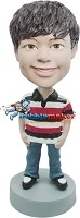 Custom Bobble Head | Casual Polo Shirt Boy Bobblehead | Gift For Men
