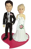 Custom Bobble Head | Super Casual Bride And Groom Bobblehead | Gift Ideas For Wedding