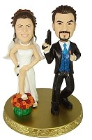 Custom Bobble Head | Undercover Bride And Groom Couple Bobblehead | Gift Ideas For Wedding