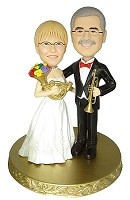 Custom Bobble Head | Bride And Groom With Horns Bobblehead | Gift Ideas For Wedding