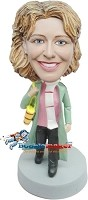 Custom Bobble Head | Woman In Trench Coat Bobblehead | Gift Ideas For Women