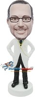 Custom Bobble Head | Hands In Lab Coat Male Doctor Bobblehead | Gift Ideas For Men