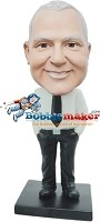 Custom Bobble Head | Dress Shirt And Tie Businessman Bobblehead | Gift For Men