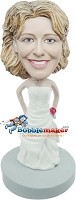 Custom Bobble Head | Bride With Hands At Sides Bobblehead | Gift Ideas For Women