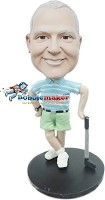 Custom Bobble Head | Male Holding Golf Club Bobblehead | Gift Ideas For Men