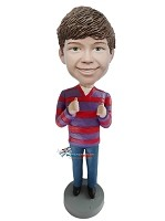 Custom Bobble Head | Male Giving Thumbs Up Bobblehead | Gift For Men