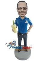 Custom Bobble Head | Man With Soda Bobblehead | Gift For Men