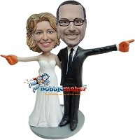 Custom Bobble Head | We're Number One Wedding Couple Bobblehead | Gift Ideas For Couple