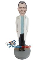 Custom Bobble Head | Male Doctor With Open Lab Coat Bobblehead | Gift Ideas For Men