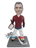 Custom Bobble Head | Hockey Goalie Man Bobblehead | Gift Ideas For Men