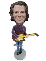Custom Bobble Head | Man With Big Guitar Bobblehead | Gift For Men