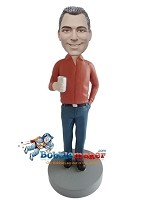 Custom Bobble Head | Man With Can Bobblehead | Gift For Men