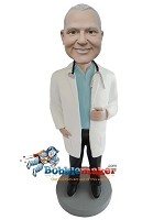 Custom Bobble Head | Friendly Male Doctor Bobblehead | Gift Ideas For Men