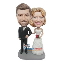 Custom Bobble Head | Thin Wedding Couple Bobblehead | Gift Ideas For Wedding