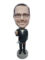 Custom Bobble Head | Middle Finger Giving Boss Bobblehead | Gift Ideas For Men