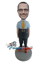 Custom Bobble Head | Nerd Male Bobblehead | Gift Ideas For Men
