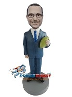 Custom Bobble Head | Man In Suit With Football Bobblehead | Gift For Men