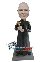 Custom Bobble Head | Priest With Cross Bobblehead | Gift Ideas For Men