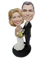 Custom Bobble Head | Loving Wedding Couple Bobblehead | Gift Ideas For Wedding