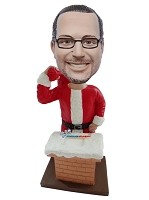 Custom Bobble Head | Custom Bobblehead Of Santa | Funny Christmas Gifts