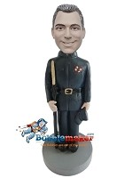 Custom Bobble Head | Military Officer Male Bobblehead | Gift For Men
