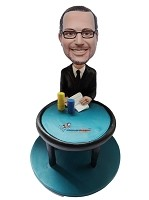 Custom Bobble Head | Man At Poker Table Bobblehead | Gift Ideas For Men