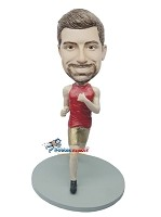 Custom Bobble Head | Male Runner In Gold Shorts Bobblehead | Gift Ideas For Men