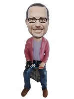 Custom Bobble Head | Sitting Male Bobblehead | Gift For Men