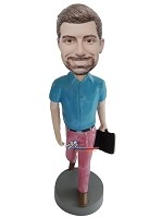 Custom Bobble Head | Man With Briefcase Bobblehead | Gift For Men