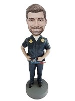 Custom Bobble Head | Man In Police Uniform Bobblehead | Gift Ideas For Men