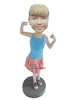 Custom Bobblehead | 80S Dance Girl Bobblehead