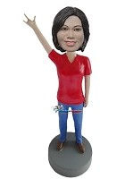 Custom Bobble Head | Rock Female Bobblehead | Gift Ideas For Women