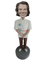 Custom Bobble Head | Casual Male In Chef Coat Bobblehead | Gift For Men