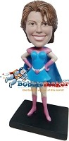 Custom Bobble Head | Heart Superhero Female Bobblehead | Gift Ideas For Women