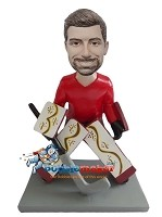 Custom Bobble Head | Male Hockey Goalie Bobblehead | Gift Ideas For Men