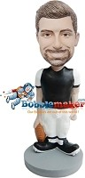 Custom Bobble Head | Man Holding Football Bobblehead | Gift For Men