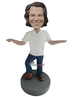 Custom Bobble Head | Casual Male Dancing Bobblehead | Gift For Men