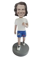 Custom Bobble Head | Running Man In Blue Shorts Bobblehead | Gift Ideas For Men