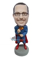 Custom Bobble Head | Superman Flexing Custom Bobblehead | Gift For Men