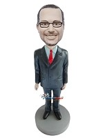 Custom Bobble Head | Hands By His Sides Businessman Bobblehead | Gift Ideas For Men