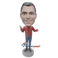 Custom Bobble Head | Sgt. Pepper Male Custom Bobblehead | Gift For Men