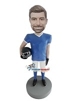 Custom Bobble Head | Man With Football Helmet Bobblehead | Gift For Men