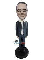 Custom Bobble Head | Big Collar Businessman Bobblehead | Gift Ideas For Men