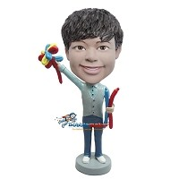 Custom Bobble Head | Balloon Making Man Bobblehead | Gift For Men