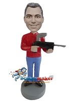 Custom Bobble Head | Paintball Gun Man Bobblehead | Gift Ideas For Men