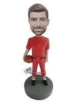 Custom Bobble Head | Basketball Player In Red Bobblehead | Gift Ideas For Men