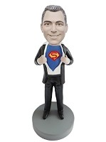 Custom Bobble Head | Man Reveals Hero Bobblehead | Gift For Men