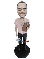 Custom Bobble Head | Shirt Male Coach Bobblehead | Gift Ideas For Men