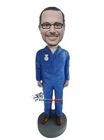 Custom Bobble Head | Male Worker Custom Bobblehead | Gift For Men