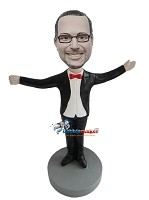 Custom Bobble Head | Male Conductor Bobblehead | Gift For Men